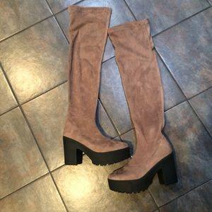Shoes - Thigh high platform boots